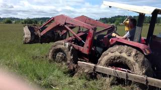 Tractor stuck in mud solution