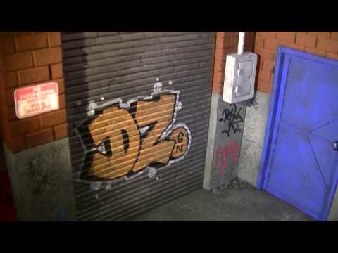 """""""Figures In Action"""" #113: Alleyway Diorama with Graffiti"""