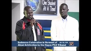 Abyei elder. Arop Meyan Alor on Abyei Arbitration celebration in USA.