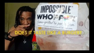 IMPOSSIBLE WHOPPER TASTE TEST W/ MAURICE MAURICE