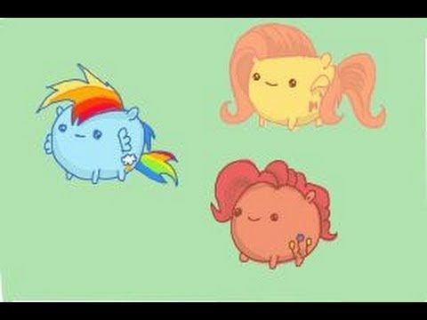 How to draw My Little Pony Characters, Kawaii - YouTube