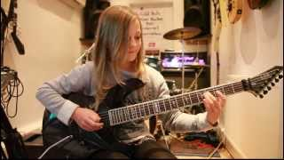 10 year old guitarist Zoe Thomson plays Canon, Rock version by Johann Pachelbel