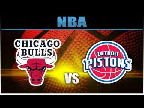 NBA 2K17 Bulls VS Pistons Full Game (PS4)