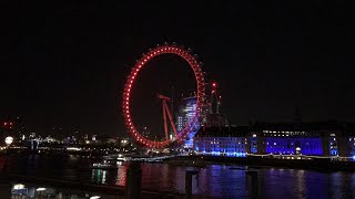 Supermoon live from London Eye Super Moon January 31st 2018