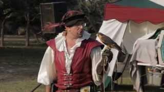 """Falconry - Aplomado Falcon """"Cricket"""" - Renaissance Fair - Ingleside TX Resimi"""