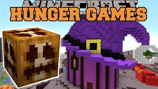 Minecraft: HALLOWEEN THEME PARK HUNGER GAMES - Lucky Block Mod - Modded Mini-Game