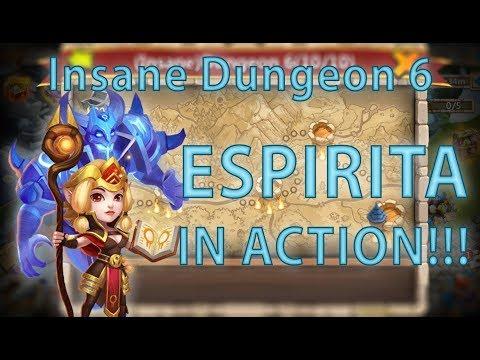 Fast Help: Complete Insane Dungeon 6 With Espirita Or Anubis | Castle Clash