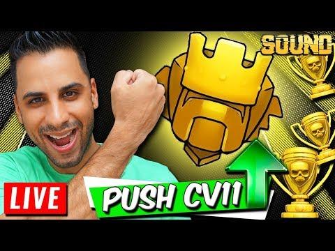 VEM PRA LIVE :: PUSH CV11 + Visitando Inscritos :: Clash of Clans