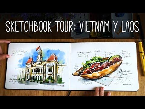 Sketchbook Tour: Vietnan and Laos