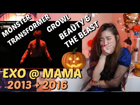 EXO LIVE @ MAMA: MONSTER + Beauty And The Beast + TRANSFORMER + GROWL + WOLF   🎃 HAPPY SILLOWEEN