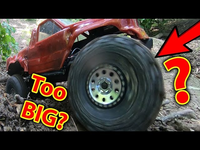 Are 2.2s Too BIG for Traxxas TRX-4? ANd Bashing with X-Maxx Whooooo!