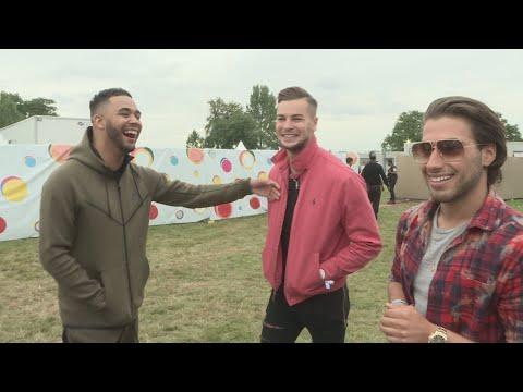 V Festival: Love Island's Chris and Kem meet new bestie