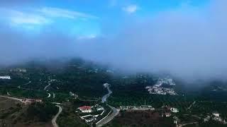 Orkaan Leslie langs de kust van Spanje! (Zonder geluid)