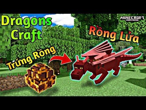 Minecraft PE | Gói Addon Về Những Chú Rồng Cực Mạnh Cho MCPE
