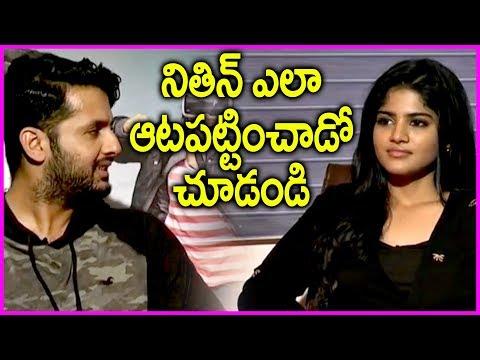 Nithin Making Fun With Megha Akash   LIE Movie Interview   Hanu Raghavapudi