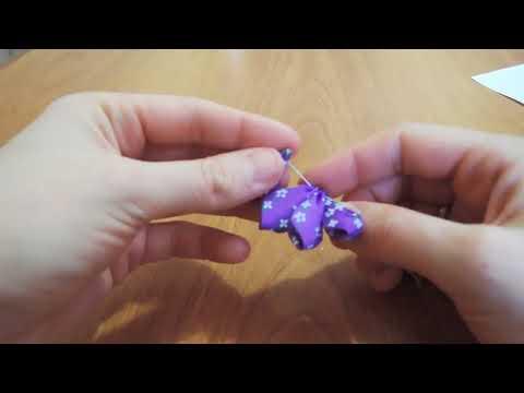 Видео урок: цветок из атласных лент мастер класс