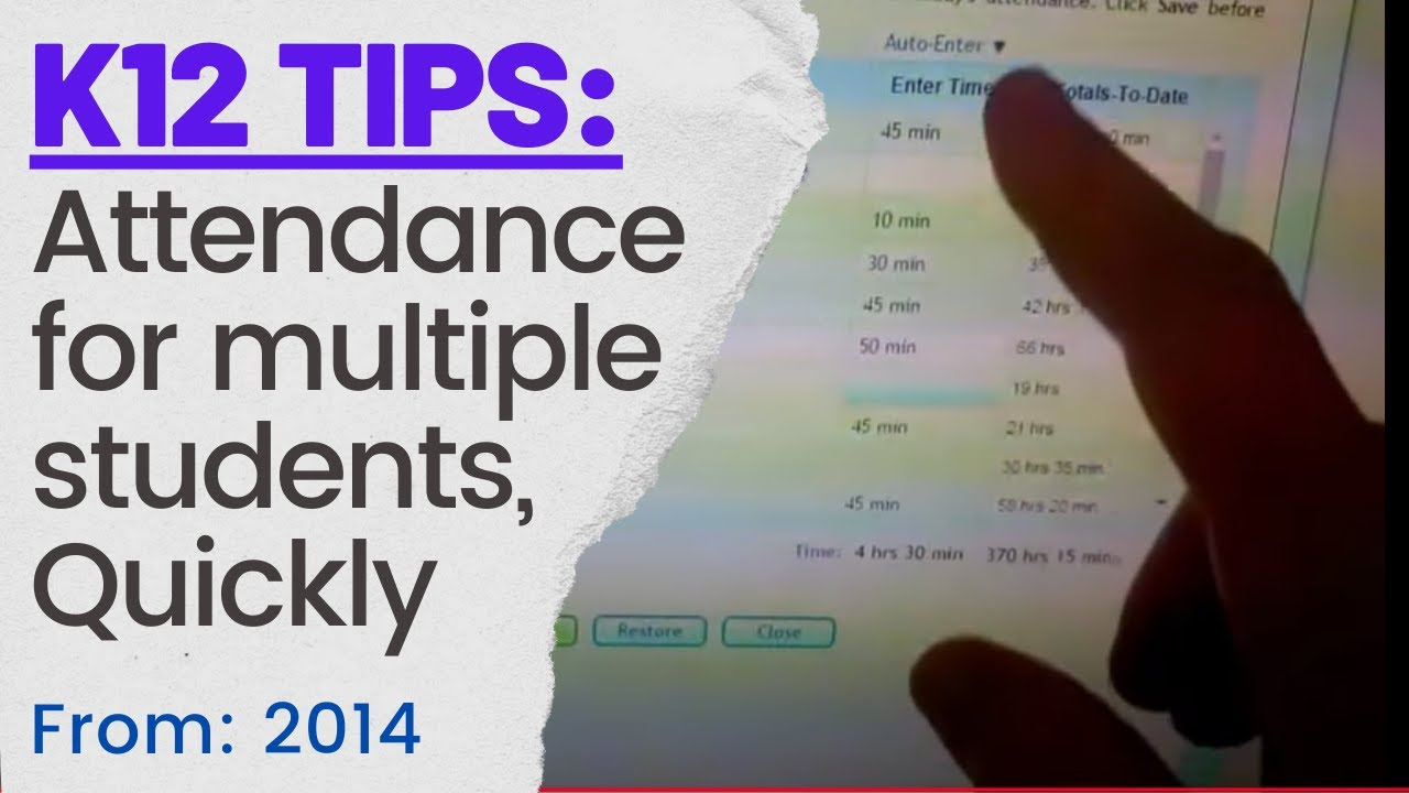 K12 OLS Attendance for multiple students Quickly