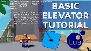 ROBLOX Easy Elevator with Prismatic Constraint - 2019 Scripting Tutorial (Floor/Lift System)