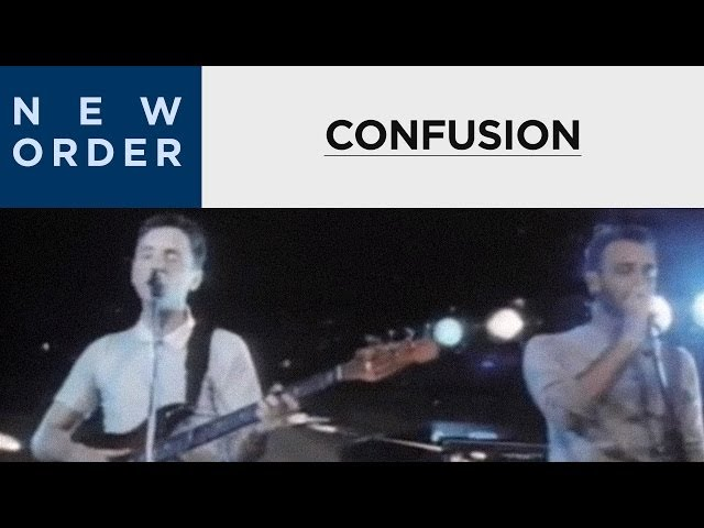 New Order  - Confusion (Official Music Video) [HD Upgrade]
