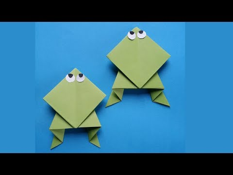DIY:Frog Tutorial !!! How to Make Easy Origami Paper Frog for Kids !!!