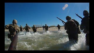 WWII Reenactment Tarawa Beach Landing and Airfield Assault