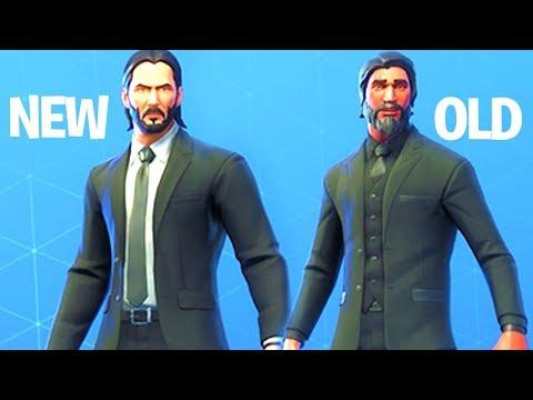 NEW Skin John Wick Vs Old Skin (The Reaper) Fortnite Battle Royale