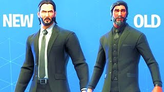 NEW Skin John Wick vs Old Skin (The Reaper) Fortnite Battle Royale