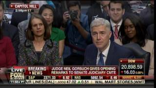 SCOTUS Nominee Gorsuch Takes Time to Hug and Kiss Wife in Opening Statement