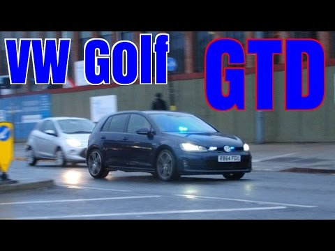 Unmarked Police Car Responding Vw Golf Gtd Youtube