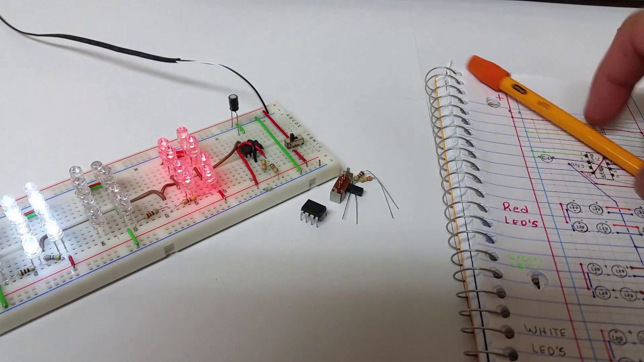 Colorful Led Chaser Circuit 555 Pictures - Wiring Standart ...