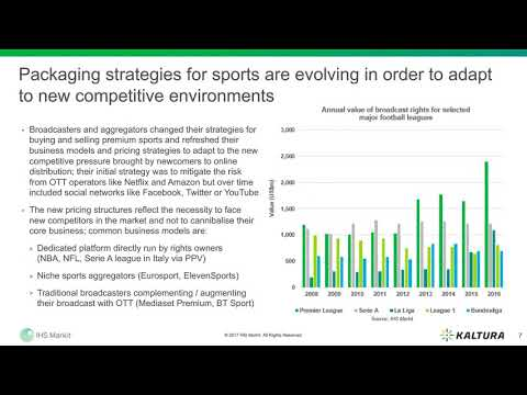 New frontiers for distribution of sports content