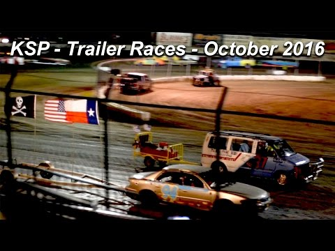 Kennedale Speedway Park - Trailer Races - HD 1080p (60fps)  - October 1, 2016
