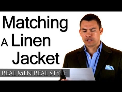 Matching Linen Jacket With Different Fabric Trousers? - Match Linen With Cotton - Wool - Synthetics