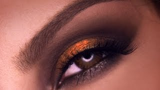 Foiled Bronzed Smokey Eyes Makeup Tutorial