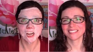 Green Tea Sheet Mask for Rosacea Will it Reduce the Redness Rosy JulieBC