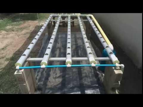 Sistema Hidroponico NFT tubos 3 PVC Venezuela Aragua. Sistem Hidroponic  Home Made