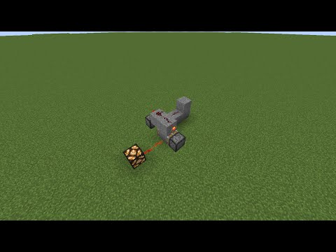 Minecraft: How To Make A Button Work Like A Lever