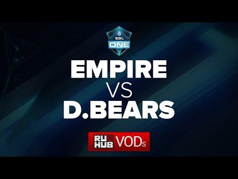 Team Empire -vs- Danish Bears || ESL One Frankfurt Quals || Game 3