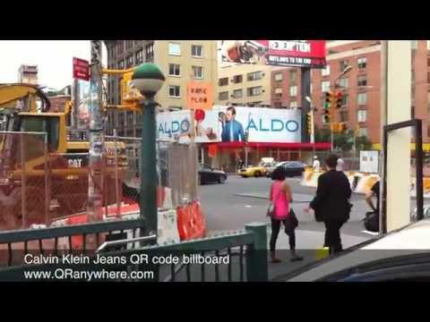 Calvin Klein Jeans QR CODE Billboard in New York City