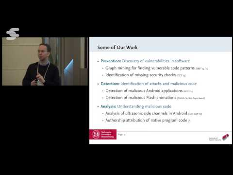 Data Mining for Security - Konrad Rieck