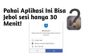 Pakai Aplikasi ini Bisa jebol sesi fb hanya 30Menit! screenshot 5