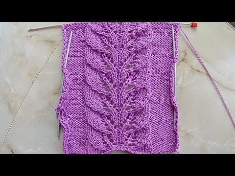 вязание узор ажурная дорожка