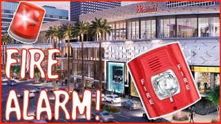 Fire Alarm Going Off at Westfield Century City Shopping Mall