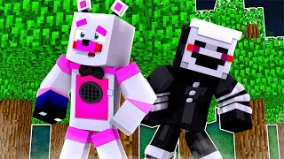 Funtime Freddy and Puppet In The Wild ?!   Minecraft FNAF Roleplay