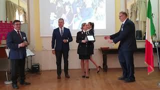 """Napoli – Premio """"Mario Fiore"""", la premiazione del maresciallo dei carabinieri Francesca Bocchino"""