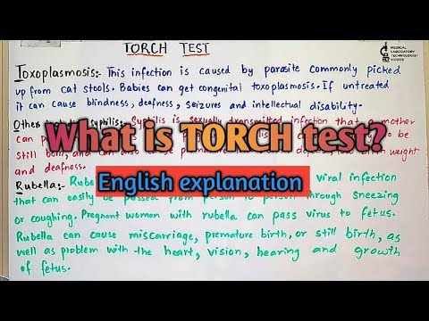 What is TORCH test?why pregnant women needs TORCH test?English explanation