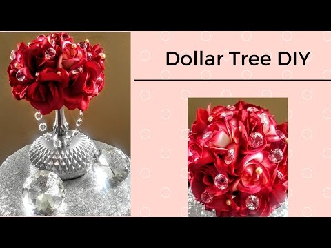 DIY Dollar Tree 💎Luxurious Centerpiece💎 Weddings or Holidays| B-Day| Home Decor