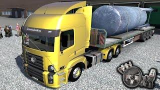Euro Truck Simulator 2 - Mapa RBR - Volkswagen Constellation - Vamos para Santos! - Com Logitech G27