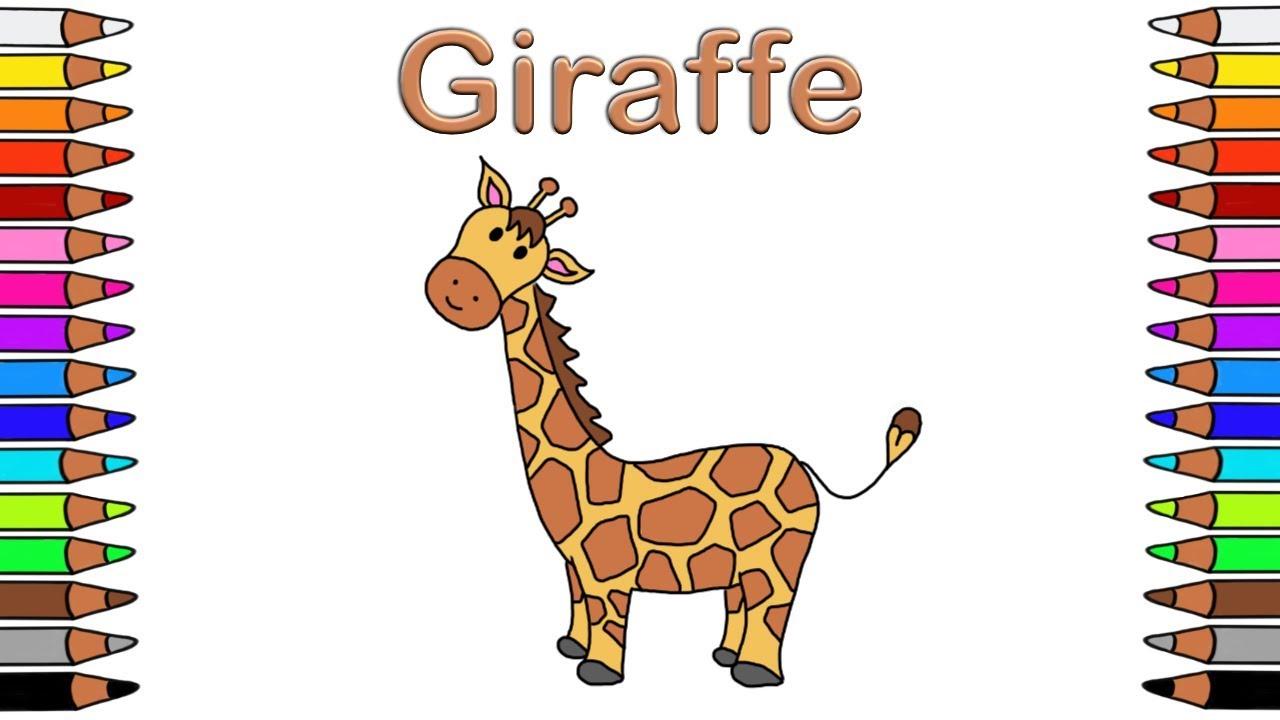Malbuch Für Kinder Malbuch Für Kinder Zum Ausdrucken Youtube Ausmalbilder Giraffe