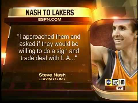 Steve Nash going to L.A. Lakers in sign-and-trade deal